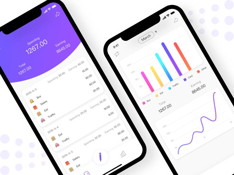 accounting app money app invite data account ui sketch