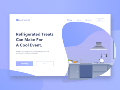 kitchen web illustration