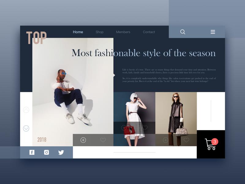 fashion web shopping shop model sketch design fashion web ui
