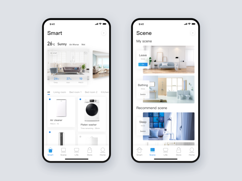 Smart home home app home device smart card invite dribbble app design sketch ui
