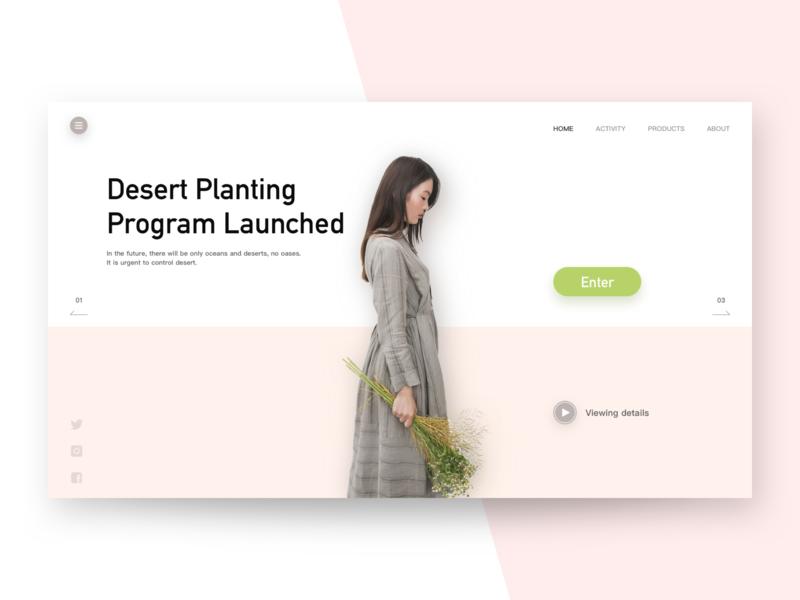 Protect The Environment environment minimalism card invite dribbble web design sketch ui