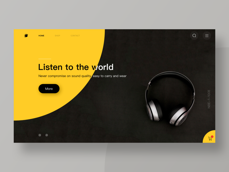 The Headset 2400 earphone headset minimalism invite dribbble web design sketch ui