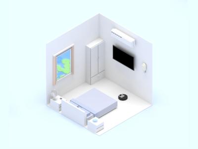 Smart Home Scene Bedroom