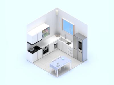 Smart Home Scene Kitchen