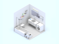 Smart Home Scene Toilet