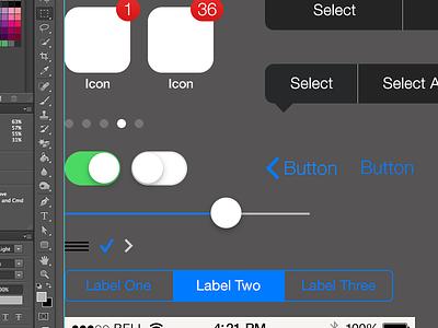 iOS 7 iPhone PSD gui psd ios7 ios iphone teehanlax