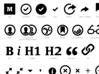 Medium icon font