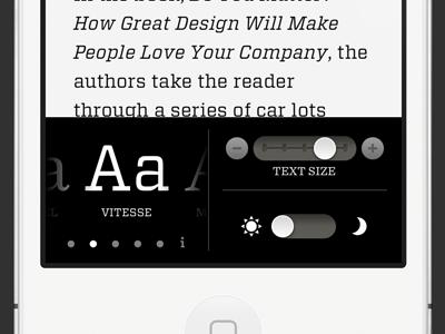 Readability iphone