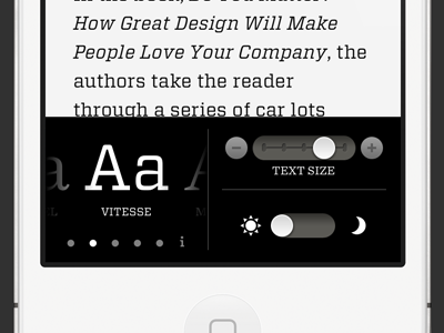 Readability on iPhone iphone ipad ios readability fonts hfj typography