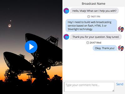 Broadcasting UI ui ux camooon user interface