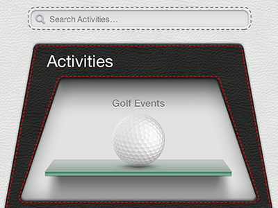 Search activities with activities gallery shelf interface ui leather search