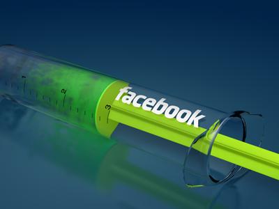 Are you addicted? facebook 3d fun social