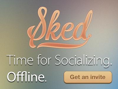 Sked Landing Page sked ui web