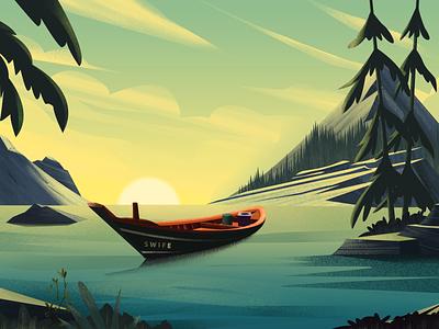 A ship ui design illustration