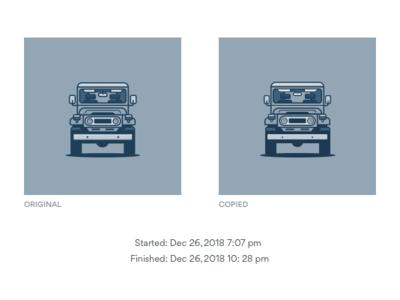 Land Cruiser Copy Work design vector cute sketch app sketch copy work illustration land cruiser