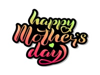 Lettering Happy Mother's Day