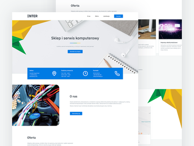 Enter - Computer Service ui computer service service webdesign