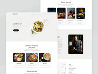 Restaurant webdesign recipt food restaurant