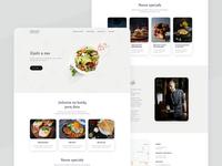 Restaurant webdesign recipt food restaurant