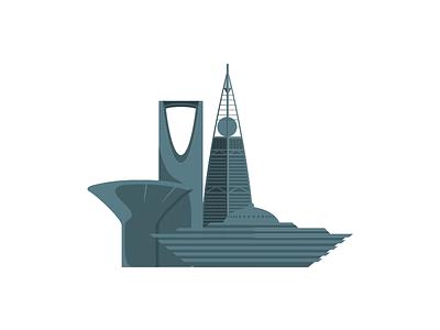Riyadh 2d illustration flat riyadh
