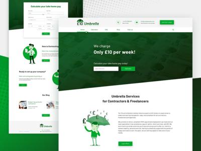Website for an Umbrella Company