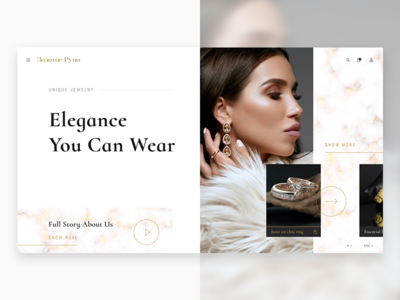 First Screen of a Fashion Website