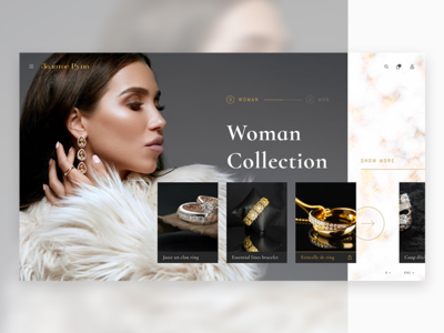 Second Screen of a Fashion Website