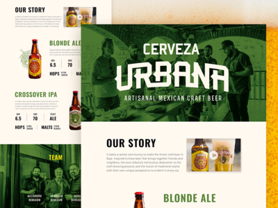 Landing Page for a Craft Beer Company