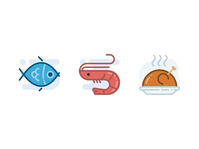 Food- Lipo Filled Icon Set