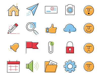 Ui - Icongraph Icon Set alert bell photography image fun creative edit emoji icon ux ui