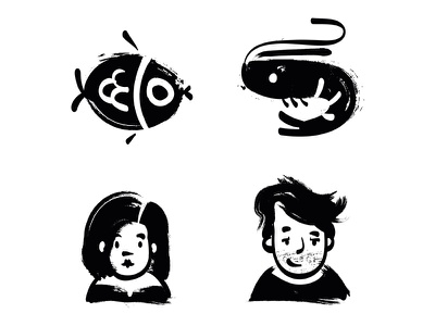 Sumi-e Icon Set illustration handdraw icondesig icons icon zen sumie