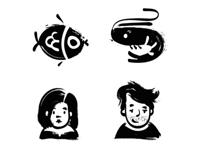 Sumi-e Icon Set illustration handdraw icondesig icons icon zen sumie