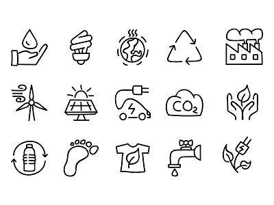 Doodle icon set icons icon ecologic ecology eco