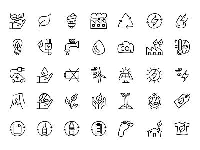 Doodle icon set - Eco ecofriendly ecological ecology ecologic eco iconset icons icon doodle