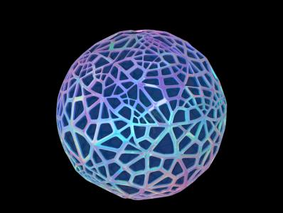 Aincent Iridescent Bubble c4d practice voronoi holographic foil holographic holo bubble cinema 4d psychedelic experimentation wip 3dart 3d cgi c4dart cinema4dart cinema4d c4d metallic iridescence iridescent