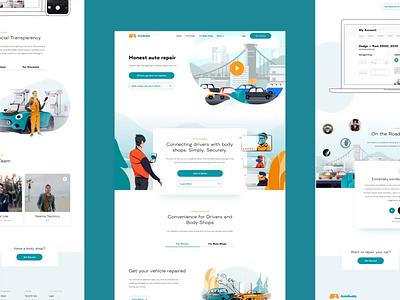 AutoBuddy website uiux ux ui logo design creative clean branding app