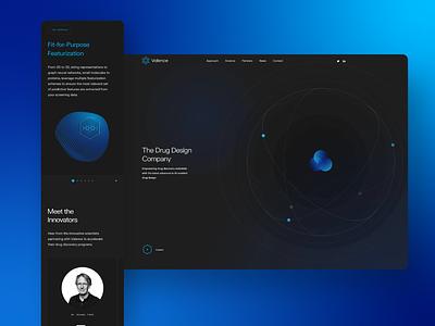 Valence color website uiux ux ui logo design creative clean branding app
