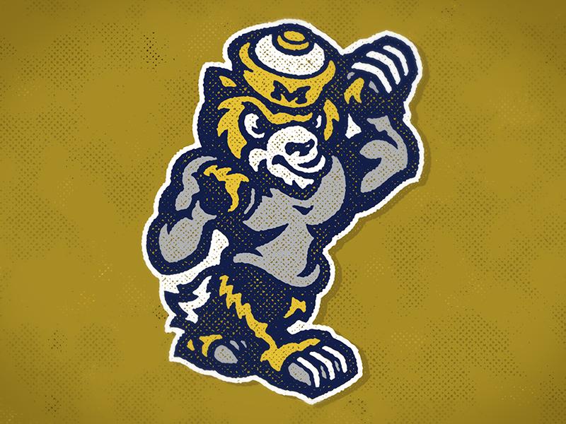 The Victors mascot concept vector wolverines michigan