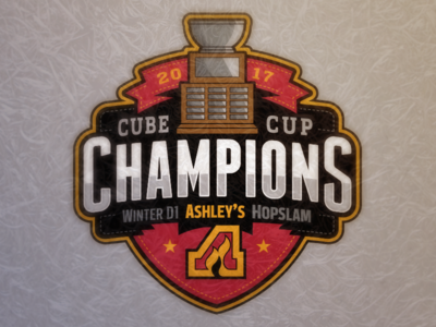 Cube Cup Champions trophy ashleys championship jersey patch badge logo hockey