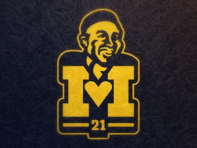 I Heart Desmond Howard 21 college football football sports athletics logo desmond howard wolverines michigan