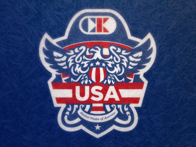 CKA USA presidential seal mascot logo cliff keen badge eagle murica america