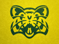Huron River Rats Head shield patch mascot high school huron concept logo michigan ann arbor