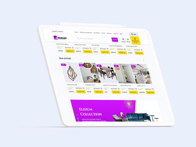 Remart hypermarkets website web web design flat ui ux minimal uxdesign ui  ux design uidesign concept