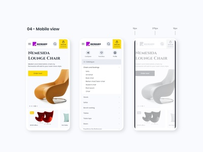 Remart's mobile view minimal typography flat responsive web design web design ux ui uxdesign ui  ux design uidesign concept