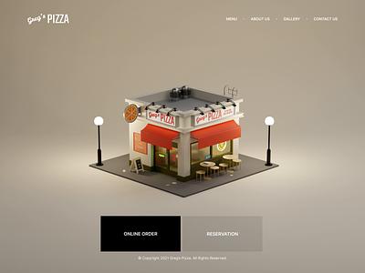 Pizza order order ecommerce pizza c4d blender motion graphics graphic design 3d animation illustration interface interaction design app mobile ux ui