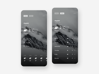Weather App cloud weather ux ui typography simple mobile minimal ios interface interaction design concept clean app