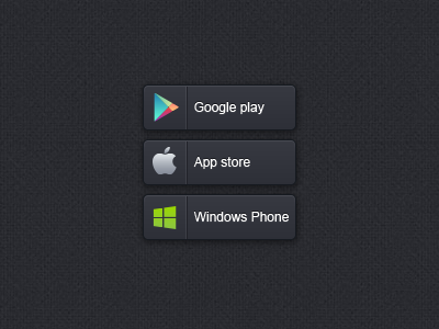 App buttons google play app store windows phone buttons application shop avalible in ai buttons