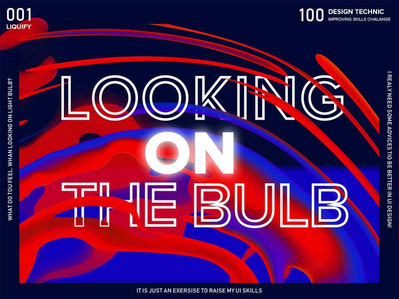 100 design technic dark abstarct type typo typogaphy font landing poster fluid blue red liquify
