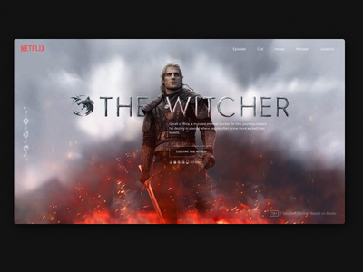 the witcher animation website landing ui  ux uiux webdesign herald netflix promo serial tv the witcher