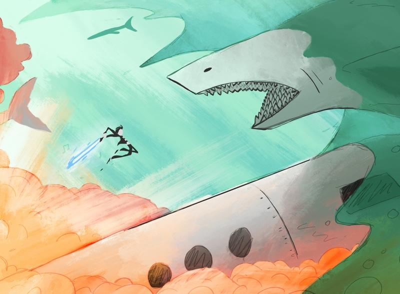 Elvis vs Shark